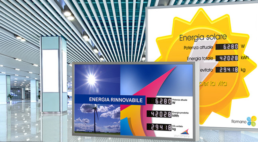 display a led per fotovoltaico