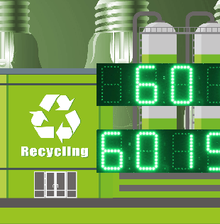 Robust digital display for energy from waste