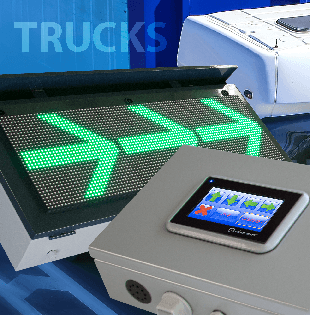 Truck guidance system with touch panel