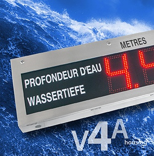 Water level display for long reading distances