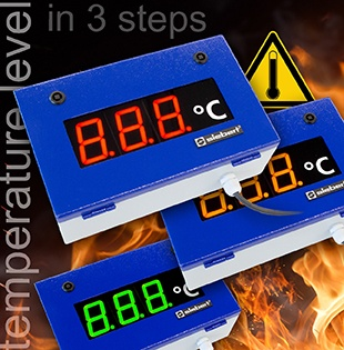 Temperature measurement displays in industial format