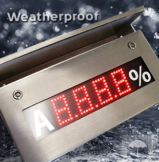 Weatherproof in stainless steel
