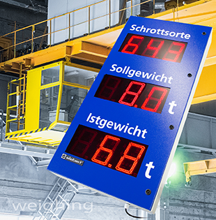 Weighing information for crane operators