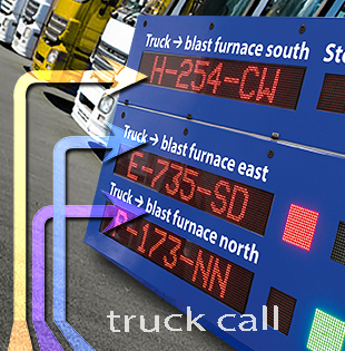 Truck call system in the steel industry