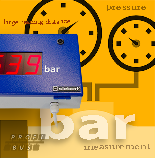 Pressure measurement readable up to 20 meters