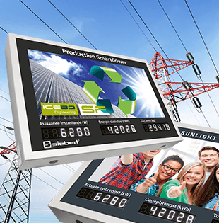 Display systems for the photovoltaic with backlit graphics