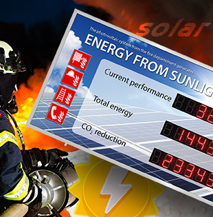 Solar energy for fire department
