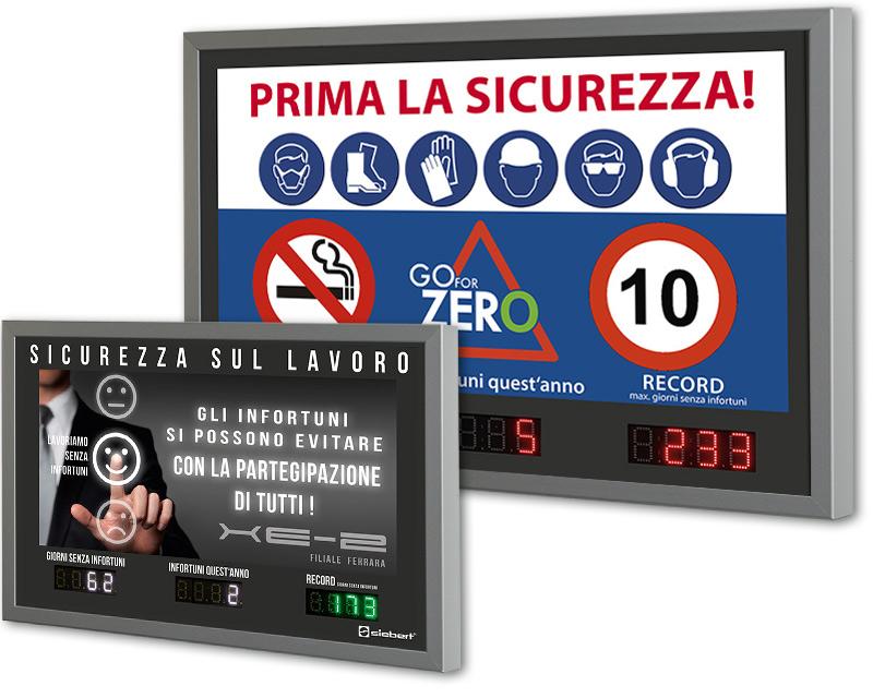 Display per la sicurezza sul lavoro